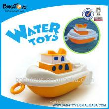 Lovely plástico puxar linha brinquedo barco de brinquedo de água