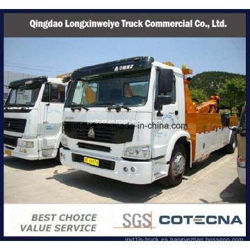Pesado HOWO 4 X 2 8 toneladas carretera rescate remolque camión grúa
