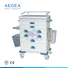 AG-AT021 ISO CE medicine distribute hospital patient crash cart medical trolleys