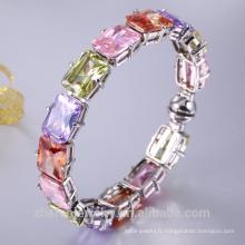 bracelet de mode bracelet extensible de bijoux en or cz 925 18k coloré