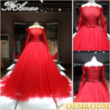 2016 China atacado Big trompete halter Uma linha de vestido de noiva noite Alibaba vestido de noiva de casamento no chão de comprimento