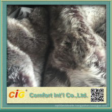 Printing Designs Artificial Fur Fabric for Dressing Stool