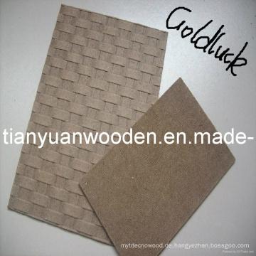 (1220 * 2440) Fabrik Direktverkauf Plain Hardboard / HDF