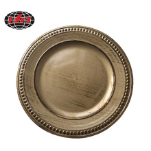 High Quality Antique Plastic Charger Plate