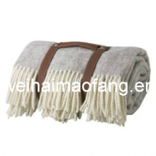 100%Virgin Wool Travel Picnic Blanket/Wool Travel Throw