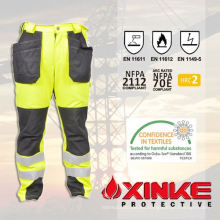 Pantalones ignífugos reflectantes protectores de Xinke para equipos de seguridad