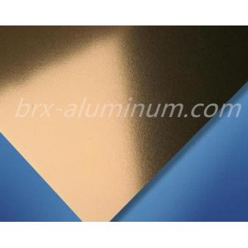 Golden Sandblasted Aluminum Alloy Sheet