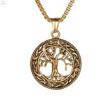 Christbaum des Lebens Bronze Anhänger Halskette
