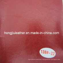 Red Sofa Material of Oil Waxy Leather