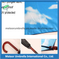 Wooden Shaft Straight Auto Open Cloudy Sky Inside Promotion Umbrella