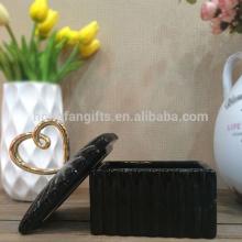 Creative Black Ceramic Jewelry and Ring Holder