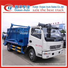 Dongfeng hydraulic small swing container garbage truck