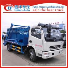 Dongfeng hidráulica balanço pequeno container caminhão de lixo