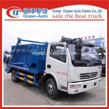 Dongfeng гидравлические малые качели контейнер мусоровоз