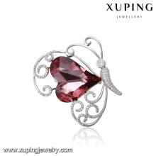 00084 магнитная булавка-брошь высшего качества с кристаллами от Swarovski, кристалл в форме сердца для женщин