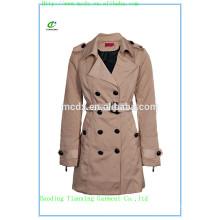 2015 OEM моды хаки стеганые женские пальто