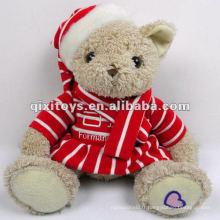 le plus nouveau mini jouet en peluche d'ours en peluche pour la décoration de Noël