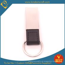 Metal de alta qualidade e chaveiro de couro Assorted no projeto especial da China