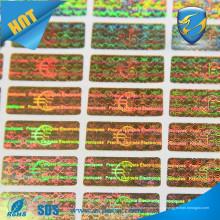 Пользовательская головоломка безопасности / Наклейка с голограммой дешевой ценовой категории / наклейка с наклейкой голограммы