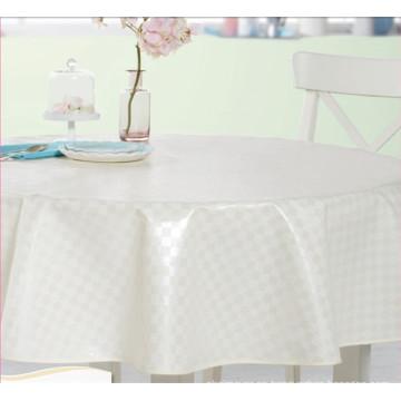 Mantel redondo blanco del mantel impreso del mantel redondo con el respaldo no tejido