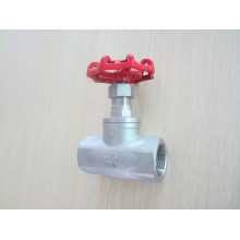 Válvula de globo de aço inoxidável da extremidade 200wog da linha fêmea com NPT / Bsp (J11)