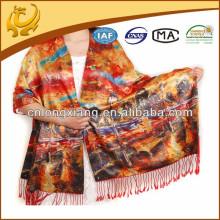 Mantones de moda de seda de Pashmina y bufandas con franja