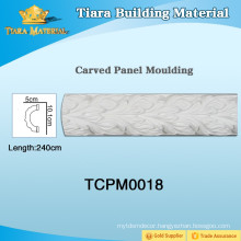 Carved pu (Polyurethane) cornice mouldings for house design