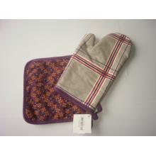 Gant au four à micro-ondes au coton et à la sécurité résistant à la chaleur avec matelas chauffant