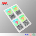 Security Plastic Seals Sticker With QR Code Printing