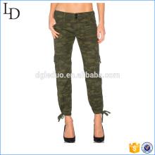 Pantalones de jogger de camo de alta calidad pantalones cargo para pantalones de mujer