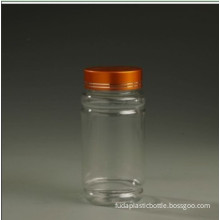 E145-200ml Pet Clear Boston Pill/Powder Bottle/Container with Silver Screw Bottle