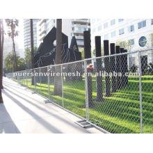 Galvanized temporary fence for dog