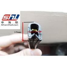 Car Automotive Rubber Seals Strip With Metal Clip , Auto Weather Seal