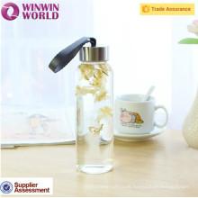 Förderung 1 Liter Portable Glasflaschen für Wasser mit Schraubverschluss