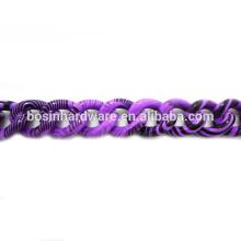 Fashion High Quality Metal Aluminum Purple Black Curb Chain