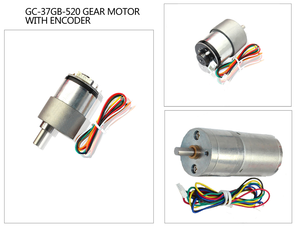 China High Torque Dc Gear Motor With Encoder High Quality