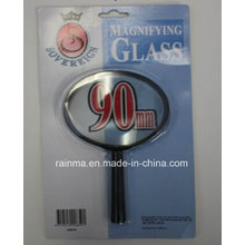 90mm Lupa barata con la lupa plástica de la manija
