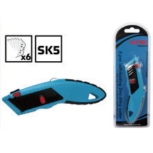 Heavy Duty Zinc-Alloy Utility Knife with 6PCS Sk5 Blades