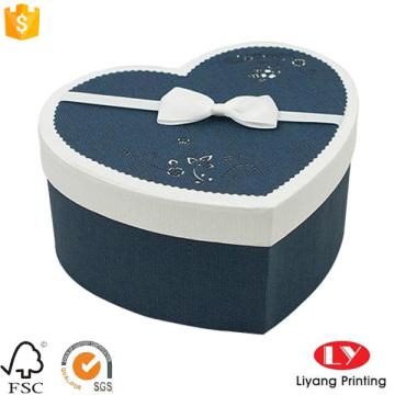 Caja de papel de empaquetado del chocolate del diy de la forma del corazón del regalo