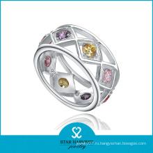 Красочные CZ стерлинговые серебряные кольца ювелирные изделия (SH-R0189)