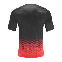 Herren Dry Fit Soccer Wear T-Shirt Rot