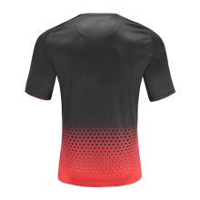 T-shirt de futebol masculino dry fit vermelho