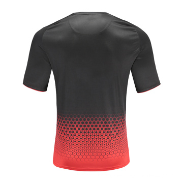 Herren Dry Fit Soccer Wear T-Shirt Rot