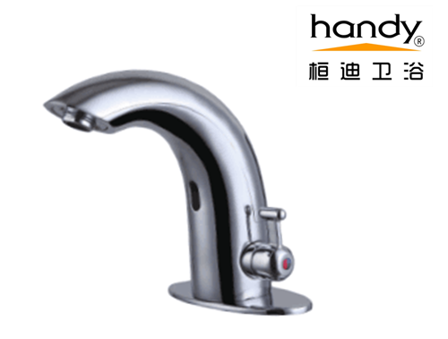 hot and cold bathroom sink faucet