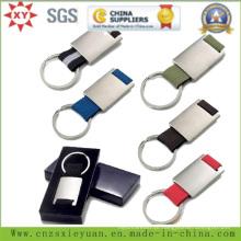 A corrente chave em branco promocional do metal personaliza o logotipo