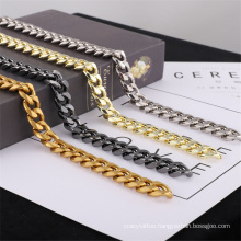 European American Fashion Jewellery Jewelry Accessories Electroplated Aluminum Chain Shoulder Strap Hardware Accessories Luggage Shoe Chain