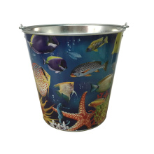 Metalen Custom Garden Bucket met groot formaat