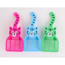 Produtos para gatos, pá de areia de gato plástico