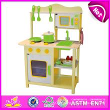 2014 nouvelle cuisine en bois de jeu, jouet populaire d'enfants jouant la cuisine, vente chaude d'enfants réglée d'enfants joue la cuisine de cuisine W10c045y
