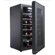 Refrigerador de vinho termoelétrico usado popular de 70L
